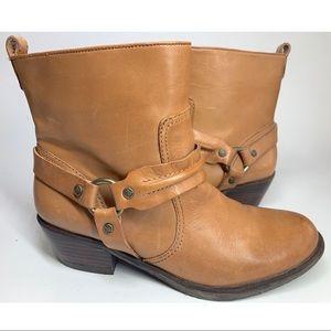 {Antonio Melani}Leather Western Harness Moto Boots
